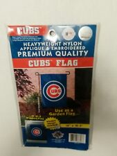 Chicago Cubs 15 x 10.5 Embroidered Garden Flag with Window Hanger included.