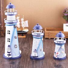 LED Lighthouse Lamp Iron Candle Holder Nautical Beach r Wedding Craft  aUs