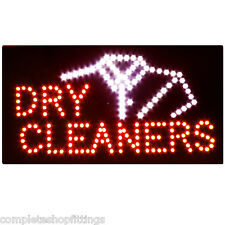 BRAND NEW DRY CLEANERS WINDOW SIGN BOARD LED BOARD FLASH / STILL