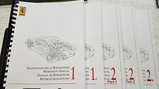 FERRARI 360 MODENA WORKSHOP MANUAL REPRINTED COMB BOUND 1427 PAGES