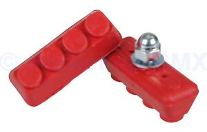 Old school BMX freestyle fixie bicycle soft compound brake pads RED