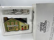 Dept 56 New England Village Series Nathaniel Bingham Fabrics & Post Office W/Box