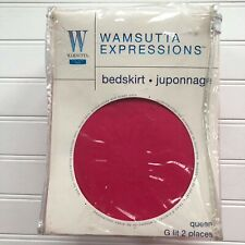 Wamsutta Expressions RaspPunch Burgundy Deep Pink Queen Bed Skirt