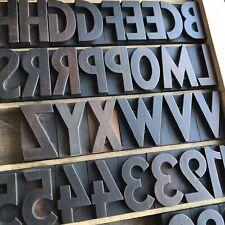 45,5 mm - Holzlettern Holzbuchstaben Lettern Plakatschrift Letterpress Alphabet