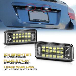 1 Pair LED License Plate Light Lamp For 08-20 Subaru Impreza WRX STI Toyota 86