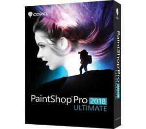 PaintShop Pro 2018 Ultimate (PC) Painter Essentials 5 Clear 3 Aftershot 3