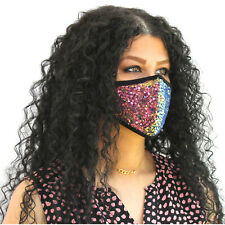 Bling Fashion Sequin Glitter Face Mask Mouth Cover Cotton Two Layers Face Mask