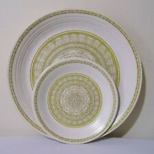 Franciscan Earthenware Hacienda Green Dinner & Bread Butter Plates Vintage