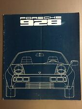 1977 Porsche 928 Deluxe Introduction Showroom Sales Brochure German RARE Awesome