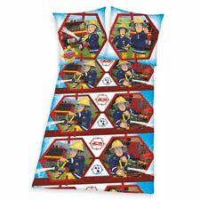 Bettwäsche | Feuerwehrmann Sam | 135 x 200 cm | Baumwolle | Kinder Garnitur