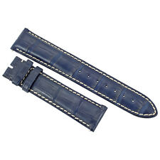 Hadley Roma 20 MM Matte Navy Blue Alligator Leather Strap 20ABT06C