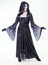 Ladies Forgotten Souls Hooded Black Gown Fancy Dress Costume Halloween UK 10-14