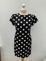 Women's Size 10 🖤 Pretty Boohoo Polka Dot Short Sleeve Sheath Cocktail Dress