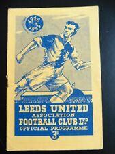 More details for 1948 leeds united v luton town football programme