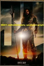 Jason Momoa Signed Aquaman Justice League Superhero Movie Poster 12x18 Reprint