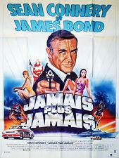 Affiche 40x60cm JAMAIS PLUS JAMAIS / JAMES BOND 007 (1983) Sean Connery NEUVE