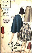 Vintage 1960 Vogue skirt pattern 5106