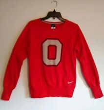 """New NIKE""  OSU BUCKEYE Girls Large Red Big ""O"" Sweatshirt"