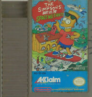 Simpsons Bart vs the Space Mutants NES Video Game w/ Dust Cover VTG