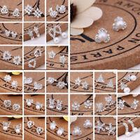 925 Silver Crystal Silver Earrings Wedding Women Jewelry Diamond Earrings