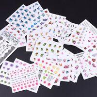 50 Sheets Butterflies Flower Feather Design Nail Art Water Decals Stickers DIY