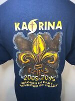 The Blood Center Hurricane Katrina 2005-2015 New Orleans Navy Blue T Shirt XL