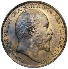 More details for 1902 penny (low tide) - edward vii british bronze coin - superb