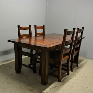 Large Solid Mango Wood Dining table and Four Chairs Delivery Available