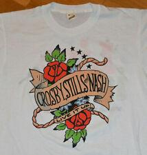 *1990 CROSBY STILLS & NASH* vtg rock concert tour tee shirt (L/XL) David, Graham