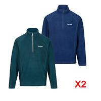 2 x Regatta Montes Mens Lightweight Half Zip Microfleece Fleece Jacket RRP £50