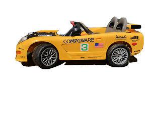 Kids Yellow Corvette Ride On Car