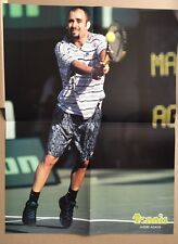 ANDRE AGASSI Original Vintage French Tennis Magazine Poster