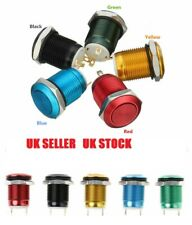 1x  2 Pins 12mm computer waterproof momentary metal push button switch  small