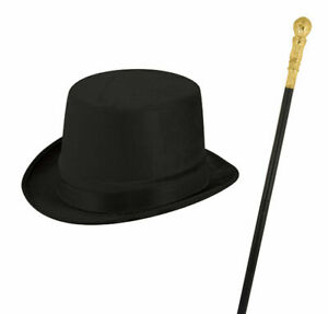 CHILDRENS BOYS HAT AND CANE THE RINGMASTER FANCY DRESS WORLD BOOK DAY COSTUME