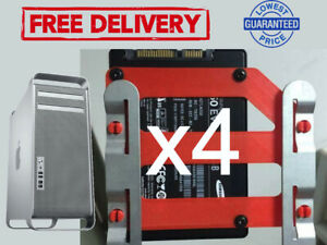 x4 MAC PRO SSD HHD DRIVE SLED ADAPTER 2.5 TO 3.5 SOLID STATE DRIVE CONVERTER