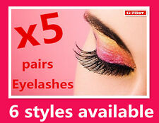 5 Pairs Quality Soft Fake Eyelashes Extensions With Glue*Thick *Natural *Long