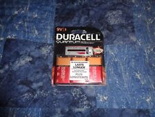 Duracell 9V Battery 3 Pack Quantum Alkaline With Powercheck Strip 12/2019