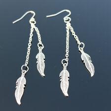 Long Tassel Dangle Jewelry Ld Feather Leaf Chain Earrings Pearls Earring