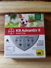 K9 Advantix Ii for Small Dogs 4 to10 lbs. One Month, 1 Dose Ticks Fleas Mosquito