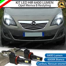 KIT FULL LED HIR2 HIR OPEL MERIVA B RESTYLING LAMPADE LED 6000K NO AVARIA LUCI