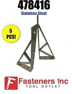"(#478416S1) P1777 Stainless Steel Unistrut Shelf Bracket / Brace 16-1/2"" Qty: 5"