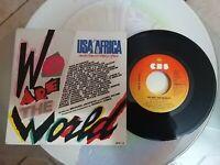 USA FOR AFRICA WE ARE THE WORLD 45 GIRI DISCO IN VINILE A 6112 da collezione