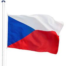 Mât de drapeau aluminium 625 cm drapeau tchèque incl. kit jardin drapeaux blason