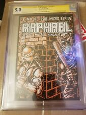RAPHAEL #1 CGC 5.0 W SIGNED SKETCHED EASTMAN Remarque  1st Print Mirage