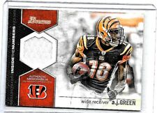 A.J.GREEN 2012 BOWMAN RELIC INSIDE THE NUMBERS GAME WORN JERSEY
