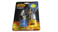Star Wars 2 Roller Stampers Clone Trooper C-3PO R2-D2 NEW Washable Ink 2005 Card