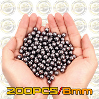 200PCS Stainless Steel Metal Alloy BB Balls 8mm - Slingshot Tactical BB's