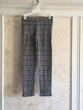 NWT Janie And Jack Girls Houndstooth Pants 10 Navy