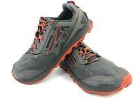 Altra Lone Peak 4 Hiking Trail Running Comfort Shoes Men's 10 Gray Red EUC
