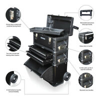 US PRO Tools 3 IN 1 Mobile Rolling Chest Trolley Cart cabinet Wheels Tool Box